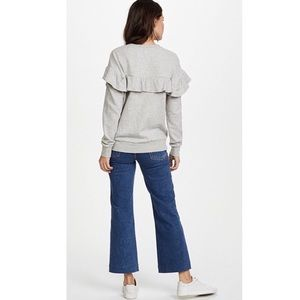 Joie Sweaters - JOIE heather gray ruffle sweater